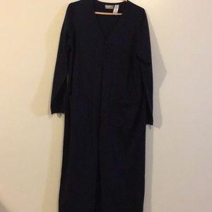Liz Claiborne Blue Button-Up Sweater Dress EX COND